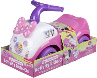 Rosa åkande Minnie mus ljus & ljud barn aktivitet