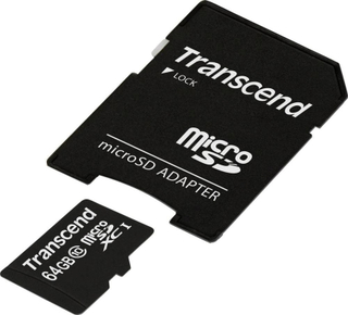 Transcend Premium MicroSDXC-kort 64 GB Class 10, UHS-I inkl. SD-adapter