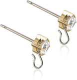 Blomdahl Safety Ear Pin White/Gold