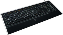 Illuminated K740 - Tastatur - Nordisk - Svart
