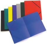 Gummibandsmapp plast A4 blå