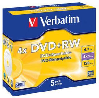 DVD+RW VERBATIM 4,7GB 5/FP