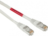 Hama kabel nätverk cat5e 3m korsad skärmad guld st
