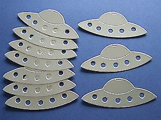 10 silver kort rymdskepp för barn hantverk   Yttre rymden hantverk