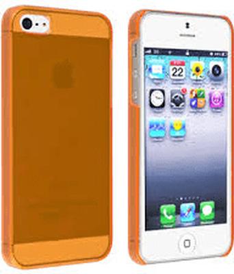 Transparent färgat plast skal till iphone 5/5s