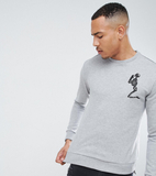 Religion Tall Skeleton Crew Neck Sweat - Grey