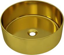 vidaXL Handfat 40x15 cm keramik guld