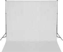 vidaXL Stativ och fotobakgrund 600 x 300 cm vit