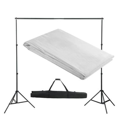 vidaXL stativsystem til fotobaggrund 300 x 300 cm hvid