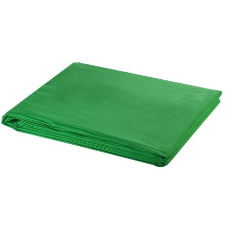vidaXL fotobaggrund i bomuld grøn 500 x 300 cm chroma key