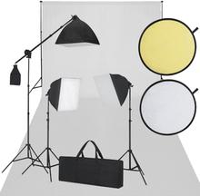 vidaXL Studioutrustning vit och svart