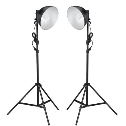 vidaXL L studiolamper med reflektor og stativ 24 watt
