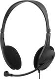 Deltaco headset, utanpåliggande med volymkontroll