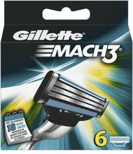 Gillette Mach3 Partaterät 6 kpl