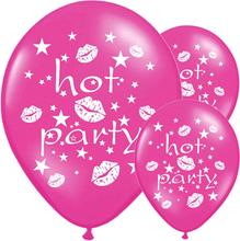 Ballonger Hot Party, Cerise 6 st