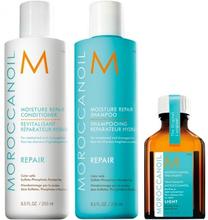 Moroccanoil Repair Shampoo & Conditioner & Oil Treatment Light 2 x 250 ml + 25 ml