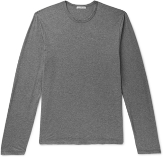 Mélange Cotton And Cashmere-blend Jersey T-shirt - Gray