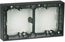 Elko Plus Förhöjningsram för strömbrytare, 2 fack, svart