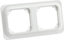 Schneider Trend Täckram för infällda strömbrytare, 2 fack