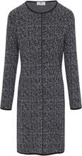 Stickad klänning i 100% ny ull från Peter Hahn mångfärgad