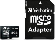 Verbatim minneskort, microSDHC, 8GB