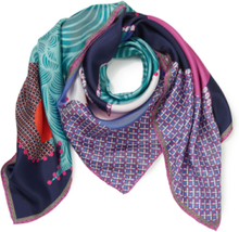 """Fyrkantig scarf """"Pattern Landscape"""" från Roeckl mångfärgad"""