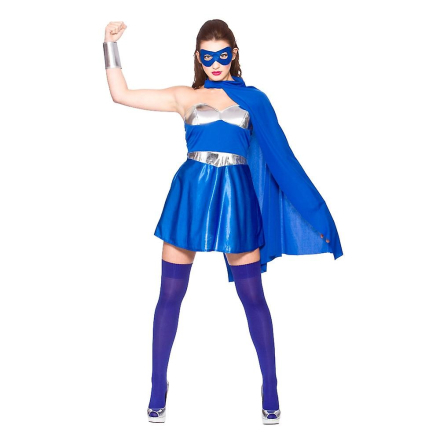 Wicked kvinder Fancy kjole blå & sølv Hot Super Hero kostume - Fruugo