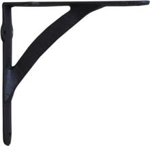 Hyllkonsol svart järn stor 20 cm
