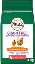 Nutro Kat Grain Free Adult kylling - 2 x 4 kg