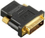 Hama adapter dvi-d - hdmi svart guldpläterad tl