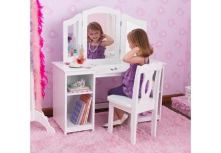 Kidkraft Deluxe vanity sminkbord & stol