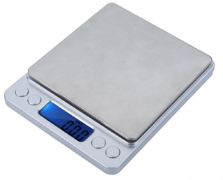 Presicionsvåg för köket mått 0.01-500g, 0.1-1000g, 0.1-2000g