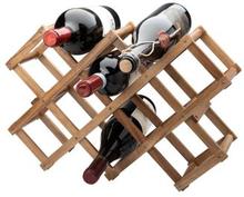 Vinställ akacia för 10 flaskor