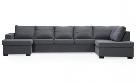 ÖLAND U-soffa XL Höger Grå
