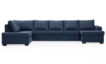 ÖLAND U-soffa XL Vänster Blå