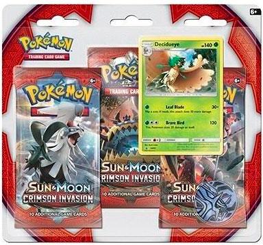 Pokemon Crimson Invasion 3-pack m/pin 3 stk booster + pin Pokemon Sun & Moon 4