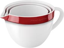 KitchenAid Keramisk Bollesett Hvit / Rød