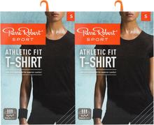 T-shirt Athletic Fit Black Melange Small 2-pack - 70% rabatt