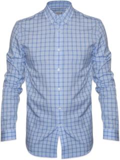 Lacoste Lacoste vanlig passer Langermede lys blå sjekk skjorte