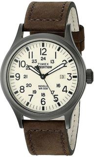 Timex Herre kvarts ur Timex Expedition spejder med læderrem (Model ...