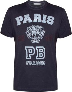 Pierre Balmain Balmain Navy Paris Tiger T-shirt