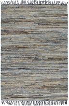 vidaXL Handvävd jutematta Chindi denim 120x170 cm flerfärgad