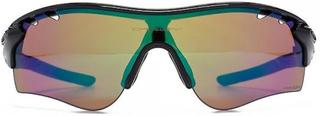 Oakley Radarlock banen solbriller i polert svart Prizm dypt vann siden