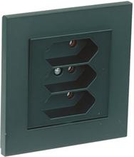 Elko Plus Vägguttag 3-vägs, svart