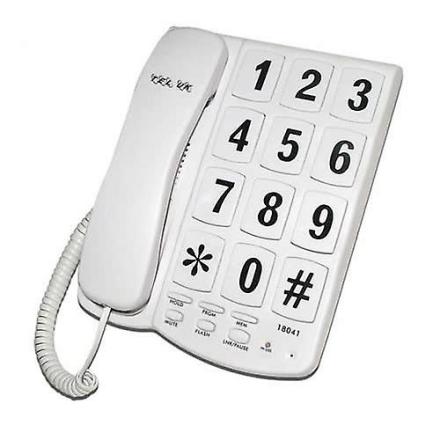 Tel UK New Yorker stor knap med ledning telefon - sort (Best.nr. Te...
