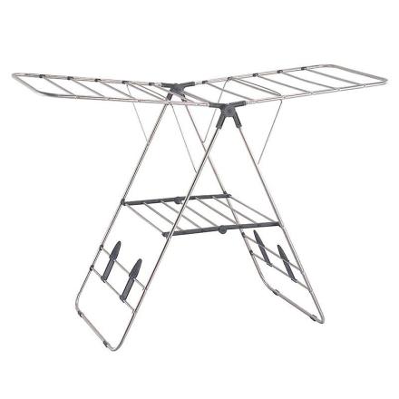OurHouse rustfrit stål vingede tørrestativ - sølv (Best.nr. SR20012)