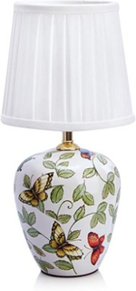 Markslöjd Mansion Bordlampe 1L Små Mønster/Hvit Markslöjd