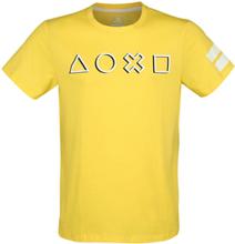 Playstation - Japanese Symbols -T-skjorte - gul