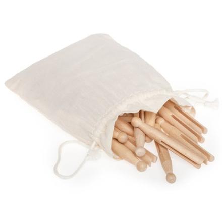 Gammaldags Klädnypor av trä, 50-pack