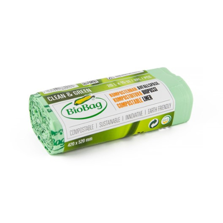 Komposterbar Avfallspåse utan handtag - 20 L, 15-pack